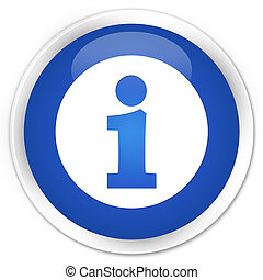 Info icon premium blue round button