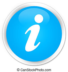 Info icon premium cyan blue round button