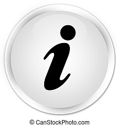 Info icon premium white round button