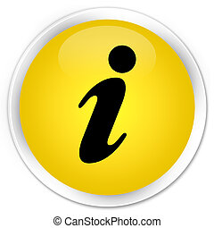 Info icon premium yellow round button