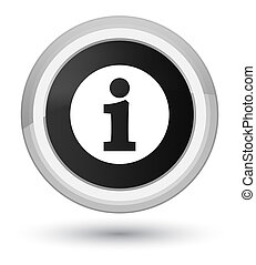 Info icon prime black round button