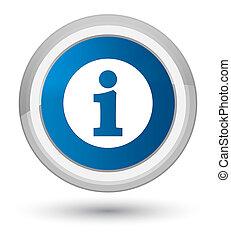 Info icon prime blue round button
