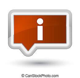 Info icon prime brown banner button