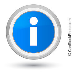 Info icon prime cyan blue round button