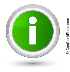 Info icon prime green round button