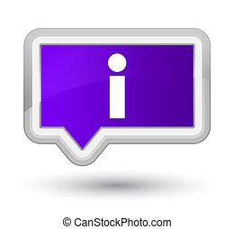 Info icon prime purple banner button