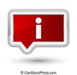 Info icon prime red banner button