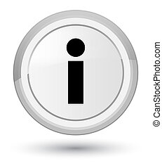 Info icon prime white round button