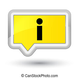 Info icon prime yellow banner button