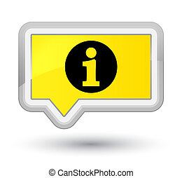Info icon prime yellow banner button