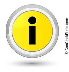 Info icon prime yellow round button