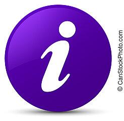 Info icon purple round button