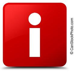 Info icon red square button
