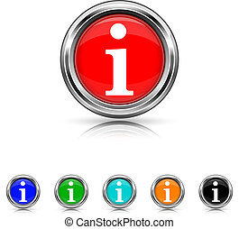 Info icon - six colours set