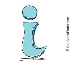 Info icon sketch vector illustration