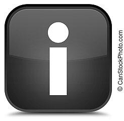 Info icon special black square button