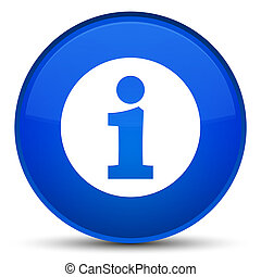 Info icon special blue round button