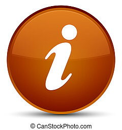 Info icon special brown round button
