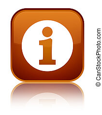 Info icon special brown square button