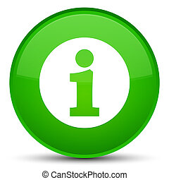 Info icon special green round button