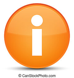 Info icon special orange round button
