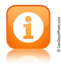 Info icon special orange square button