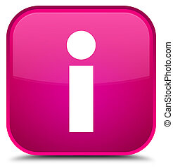 Info icon special pink square button