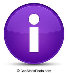 Info icon special purple round button