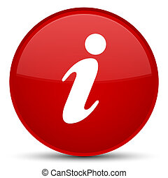 Info icon special red round button