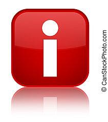 Info icon special red square button