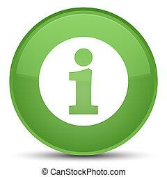 Info icon special soft green round button