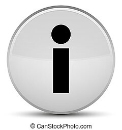 Info icon special white round button