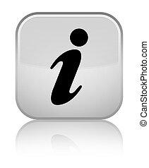 Info icon special white square button