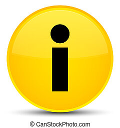 Info icon special yellow round button
