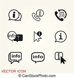 Info icon vector, illustration of information on background