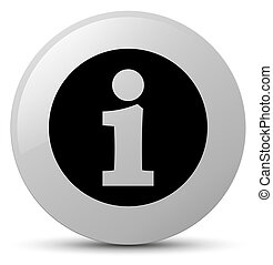 Info icon white round button