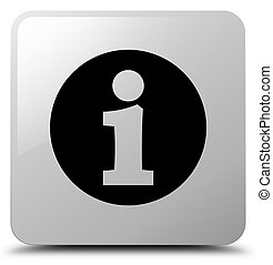 Info icon white square button