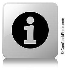 Info icon white square button