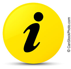 Info icon yellow round button