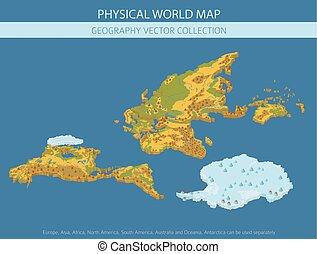 info, kaart, grafisch, elements., verzameling, eigen, bouwen, wereld, lichamelijk, jouw, aardrijkskunde