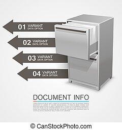 info, kassaskåp, dokument, skåp