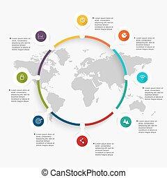 info, kleurrijke, zakelijk, presentations., vector, grafiek, jouw