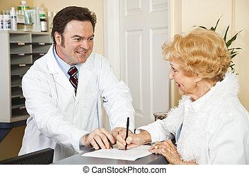 info, médico, proporcionando, seguro