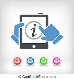 info, mobil, apparat