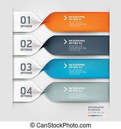 info, options., grafický, moderní, spirála
