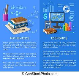 info, plakat, volkswirtschaft, themen, mathematik