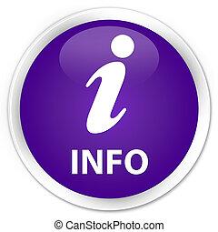 Info premium purple round button