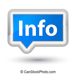 Info prime cyan blue banner button