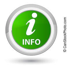 Info prime green round button