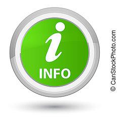 Info prime soft green round button